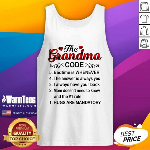 The Grandma Code Mother Day Tank Top