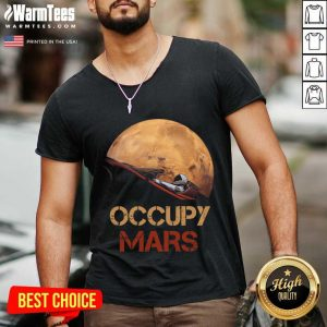The Occupy Mars Starman V-neck