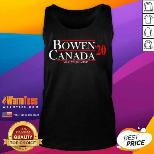 Bowen Canada 20 Wash Your Hands Tank Top