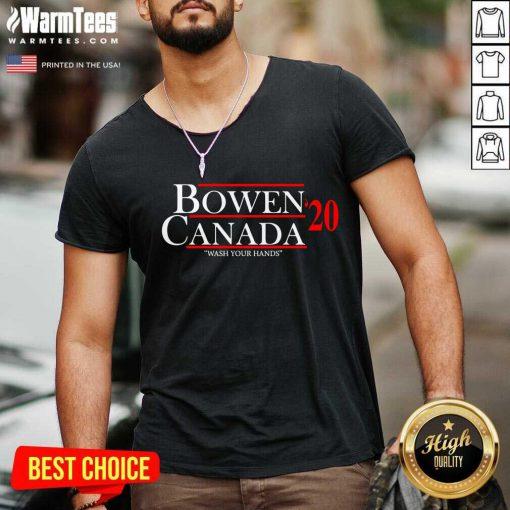 Bowen Canada 20 Wash Your Hands V-neck