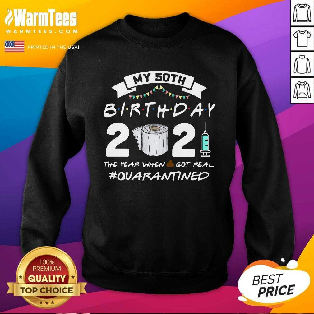 My 60th Birthday 2021 The Year When Shit Got Real #Quarantined SweatShirt