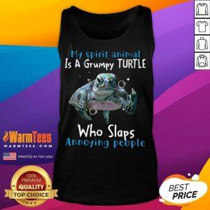Nice My Spirit Animal Is Grumpy Turtle Tank Top