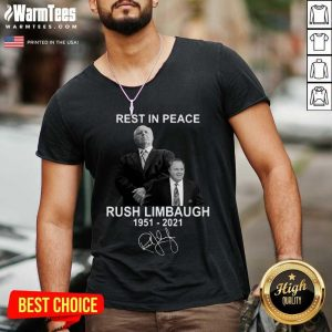 Rest In Peace Rush Limbaugh 1951 2021 Signature V-neck