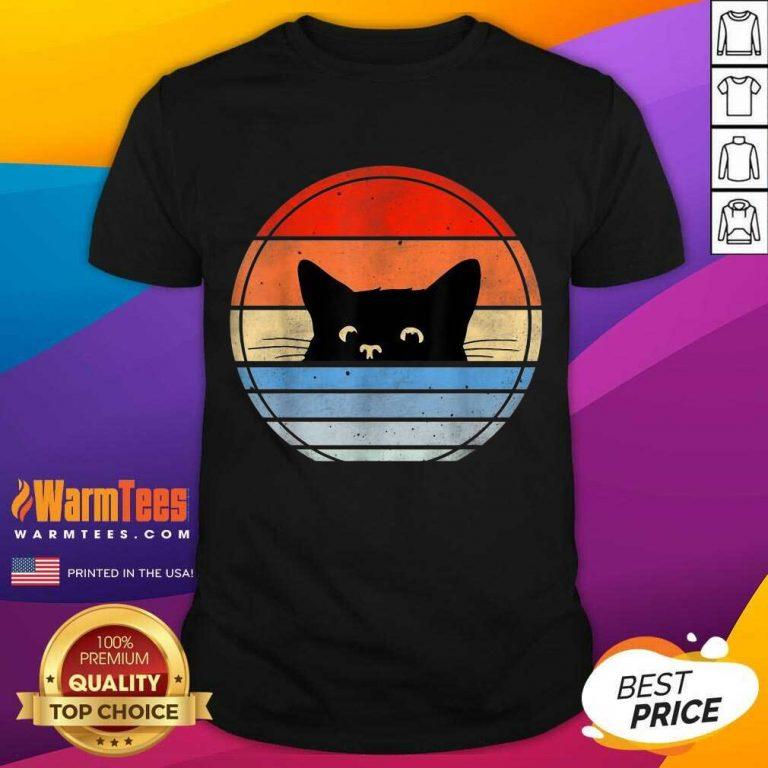 Nice Retro Black Cat Enthusiastic 46 Shirt