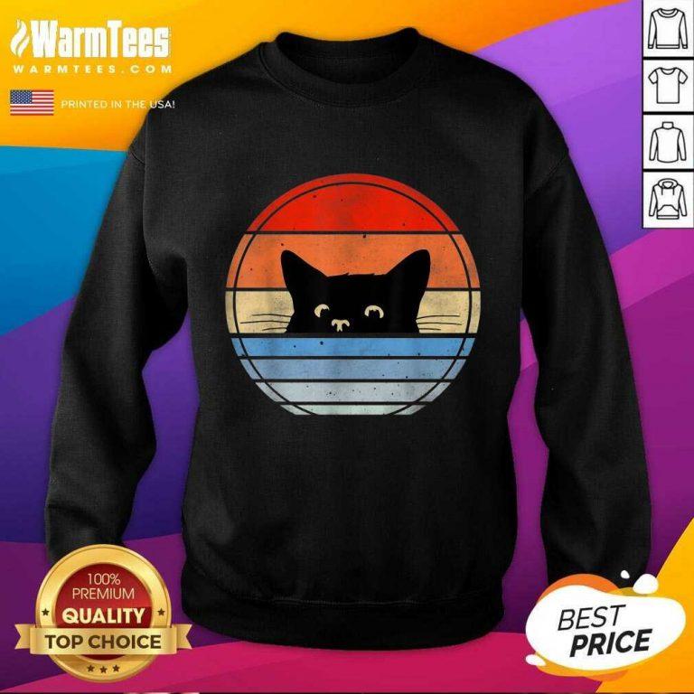 Nice Retro Black Cat Enthusiastic 46 Sweatshirt