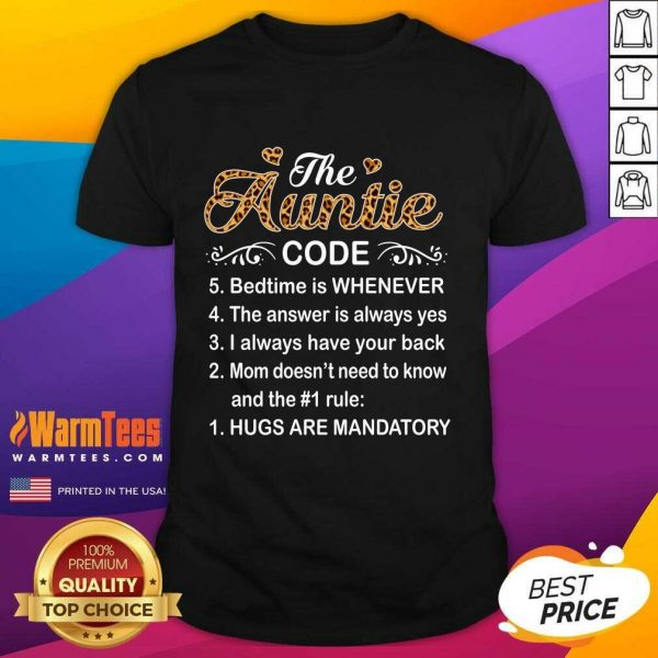 The Auntie Code Mothers Day Shirt