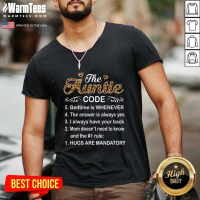 The Auntie Code Mothers Day V-neck