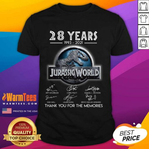 Official 28 Years Great Jurassic World Shirt