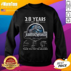 Official 28 Years Great Jurassic World Sweatshirt