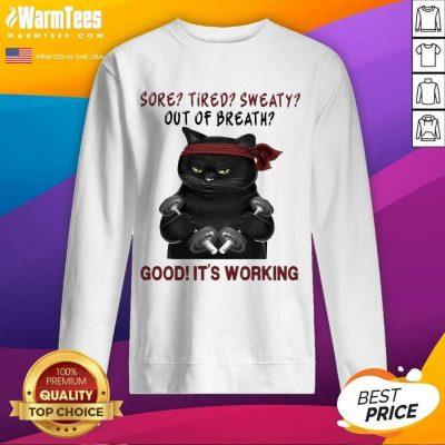 Official Black Cat Breath Working 56 Sweatshirt