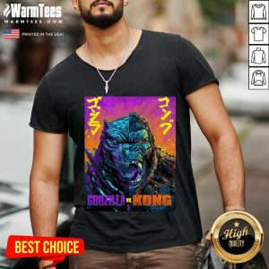 Original Godzilla Vs King Kong 21 Style V-neck