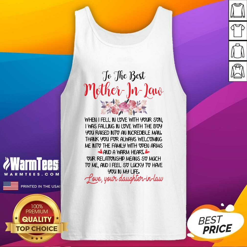 To The Best Mother In Law Tank Top