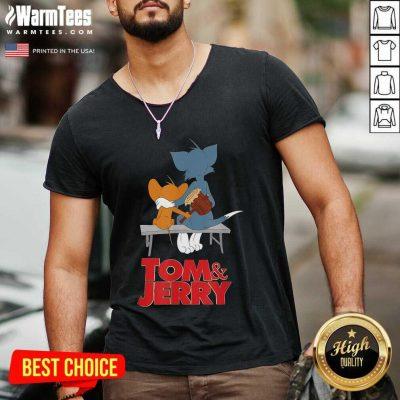 Tom And Jerry Movie Parkbench V-neck