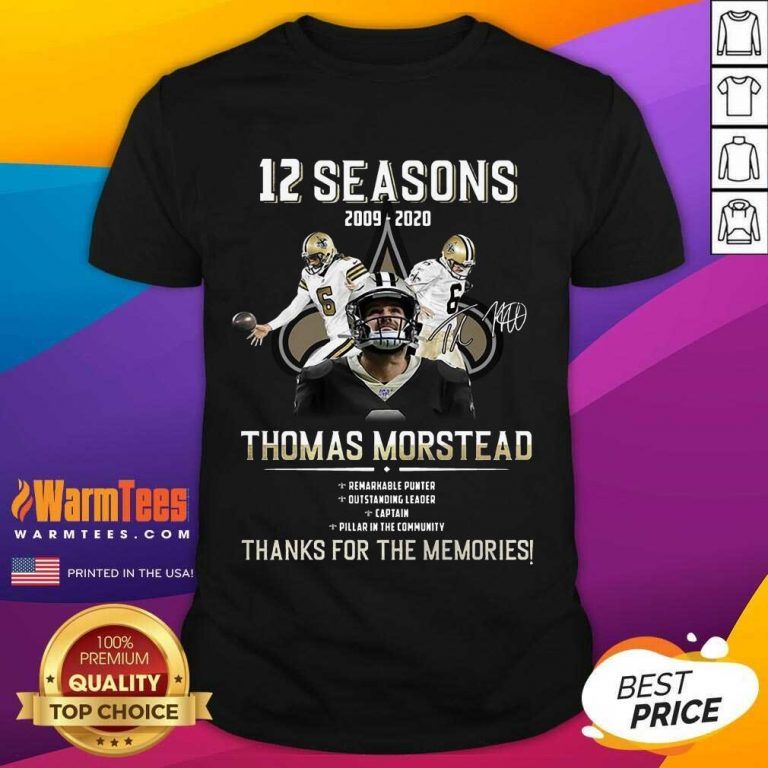 Perfect 12 Seasons 2009 Thomas Morstead Shirt