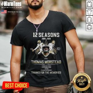 Perfect 12 Seasons 2009 Thomas Morstead V-neck
