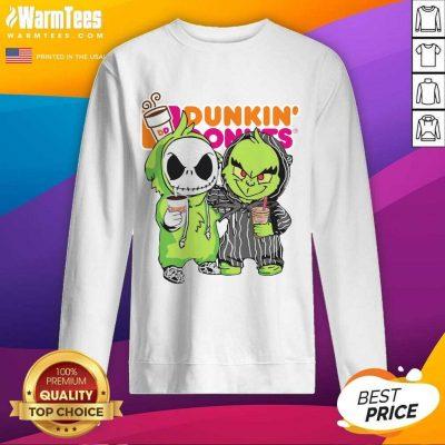 Baby Jack Skellington And Grinch Love Dunkin' Donuts SweatShirt
