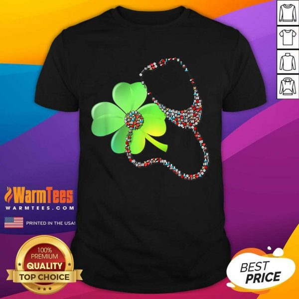 Nurse Stethoscope Shamrock St Patricks Day Shirt