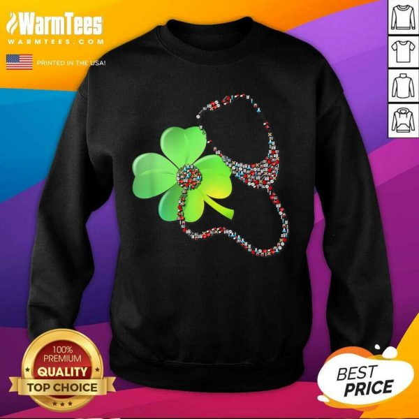 Nurse Stethoscope Shamrock St Patricks Day SweatShirt