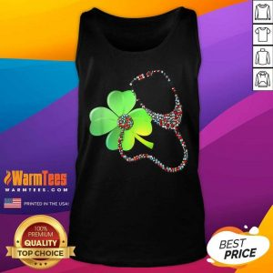 Nurse Stethoscope Shamrock St Patricks Day Tank Top