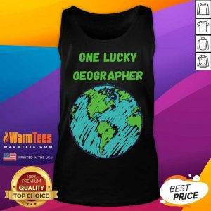 One Lucky Geographer St Patrick'S Day Tank Top