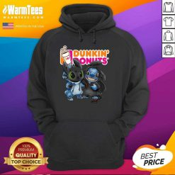 Baby Toothless And Stitch Love Dunkin' Donuts Hoodie