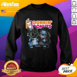 Baby Toothless And Stitch Love Dunkin' Donuts SweatShirt