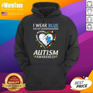 Premium Blue Autism Granddaughter Hoodie