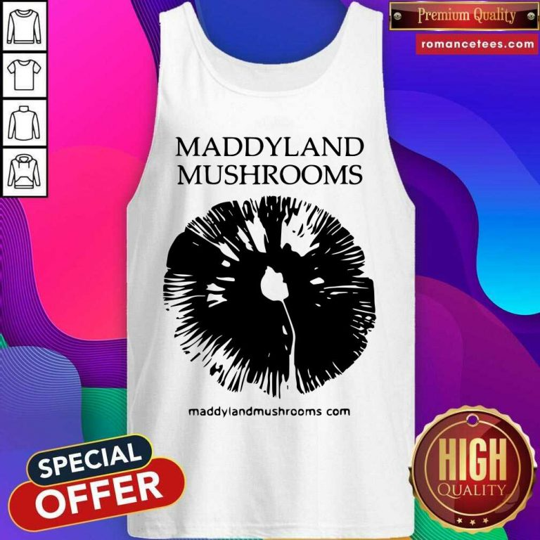 Maddyland Mushrooms With Black Image Tank Top