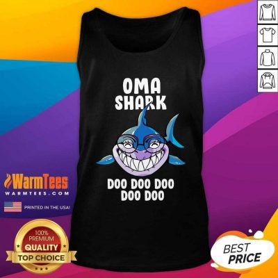 Oma Shark Doo Doo Doo Mother Day Tank Top