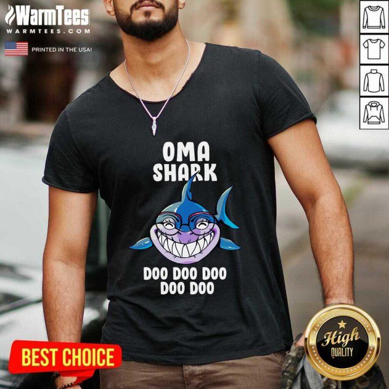 Oma Shark Doo Doo Doo Mother Day V-neck