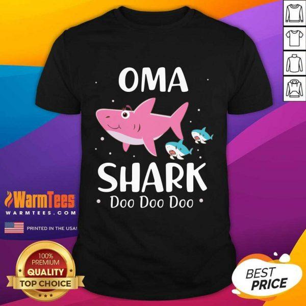 Oma Shark Doo Doo Mother Day Shirt