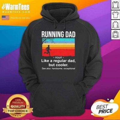 Running Dad Definition Like A Regular Dad But Cooler Vintage Hoodie