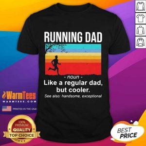 Running Dad Definition Like A Regular Dad But Cooler Vintage Shirt