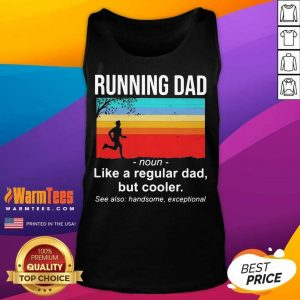 Running Dad Definition Like A Regular Dad But Cooler Vintage Tank Top