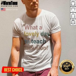 What A Lovely Day To Teach Inclusion Sped Teacher Vintage V-neck