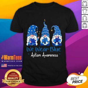 Pretty 3 Gnomes Holding Blue Puzzle Shirt