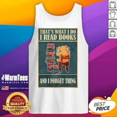 Pretty Bear Read Books Relaxed Tank Top