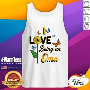 I Love Being An Oma Sunflower Mother Day Tank Top