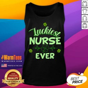 Luckiest Nurse Ever St Patrick's Day Tank Top