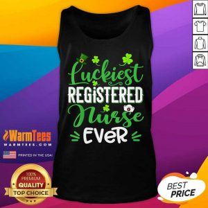Luckiest Registered Nurse Ever St Patricks Day Tank Top