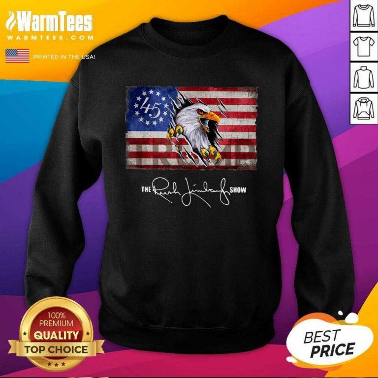 The Rush Limbaugh Show American Flag SweatShirt