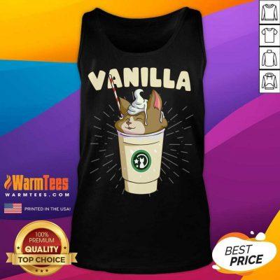 Pretty Vanilla Cappuccino Cute Cat 57 Tank Top