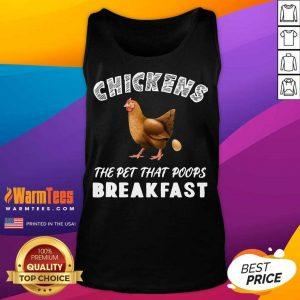 Top Chickens Poops Breakfast Backyard Tank Top