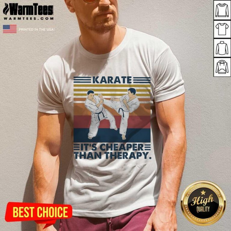 Karate It's Cheaper Than Therapy Vintage V-neck
