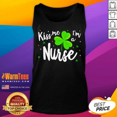 Kiss Me Im A Nurse St Patricks Day Tank Top