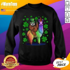 Leprechaun Sloth Riding Llama Unicorn St Patricks Day SweatShirt