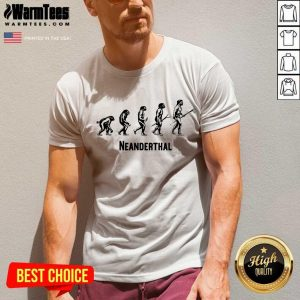 Top Neanderthal Statement Carrying 6 V-neck
