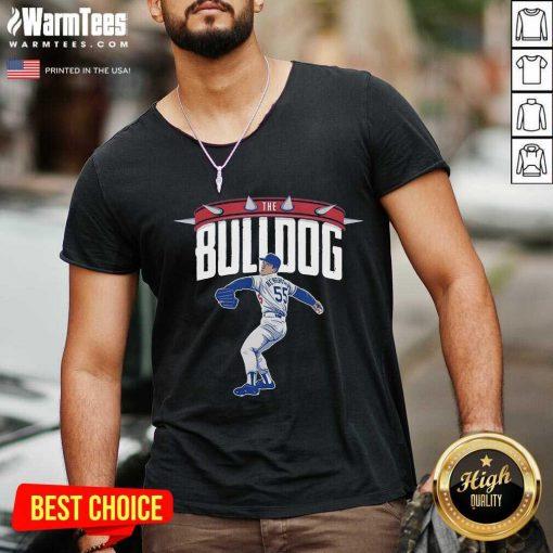 Top Orel Hershiser the Bulldog 55 V-neck