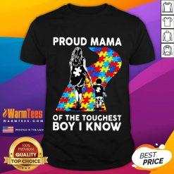 Top Proud Autism Mama Of The Toughest 5 Shirt