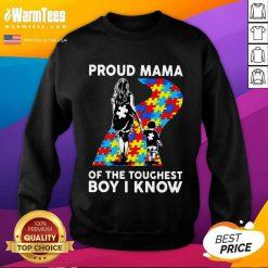 Top Proud Autism Mama Of The Toughest 5 Sweatshirt